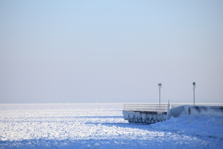 Winter landscape sea and snow and ice Composition of nature. Stock Photo - 12788877