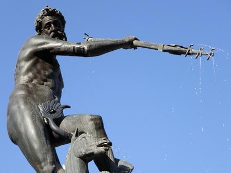 neptun: fountain Neptun in Gdansk Danzing, Poland  Stock Photo