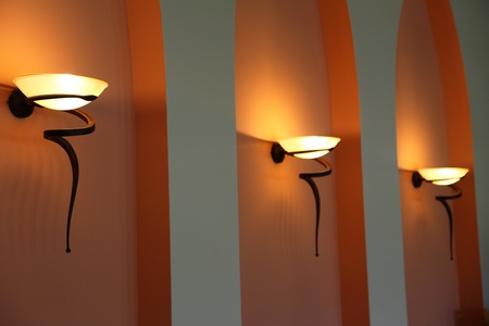 elegant wall lamp, light orange photo