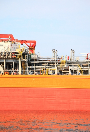 gas-carrier for loading operation in the port outdoor photo