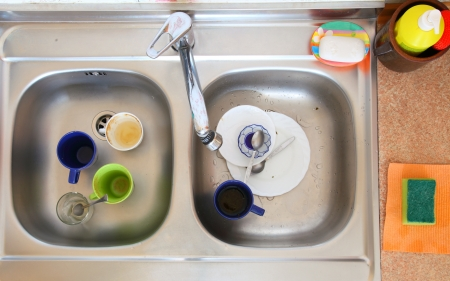 washing-up bowl in kitchen indoor cup Stock Photo - 14644133