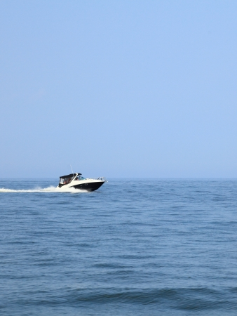 fast boat in baltic sea view photo