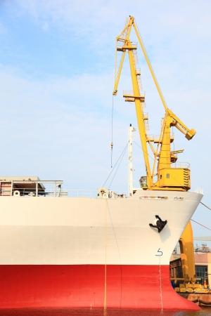 yellow port crane terminal seaport outdoor photo