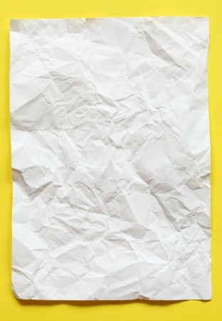 crimp White Paper texture sheet background yellow photo