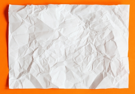 crimp White Paper texture sheet background orange Stock Photo - 15061069
