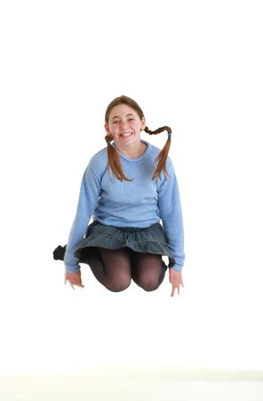 jumping girl photo
