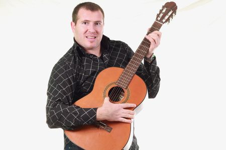 man with guitar Stock Photo - 6938306