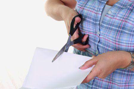 snip: cut a paper
