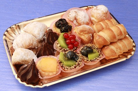 tray of pastries photo