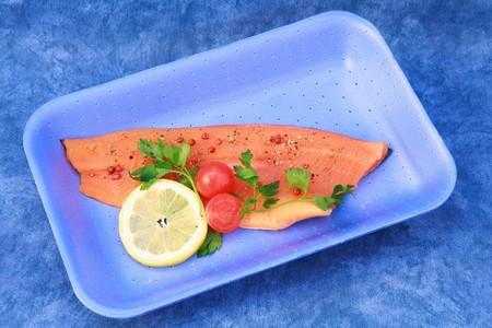 smoked salmon fillet photo