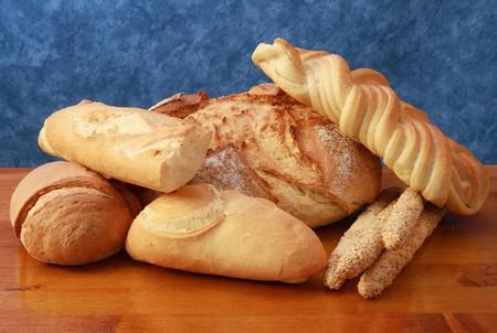 diferentes tipos de pan Foto de archivo