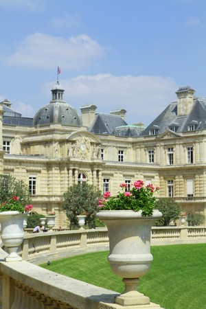 Luxemburg garden in Paris photo