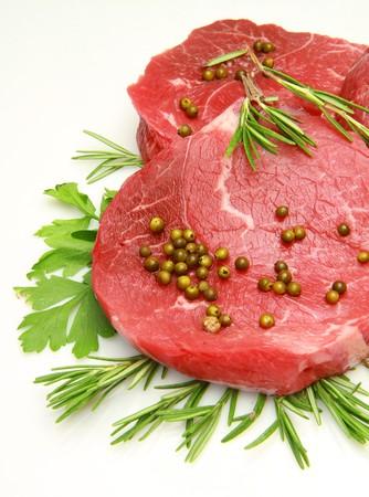 steak de b?uf frais et cru