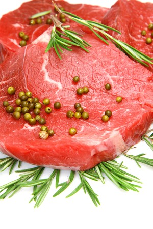 raw beef: fresh and raw beef steak  Stock Photo