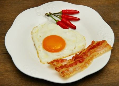 egg with bacon Stock Photo - 7763063
