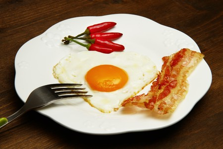 egg with bacon Stock Photo - 7763053