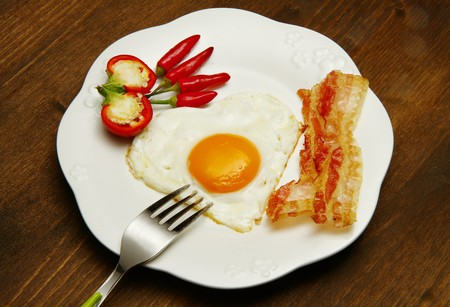 egg with bacon Stock Photo - 7763069