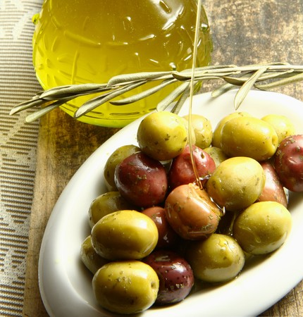 olives oil Stock Photo