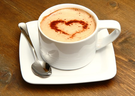 invented: cappuccino with heart