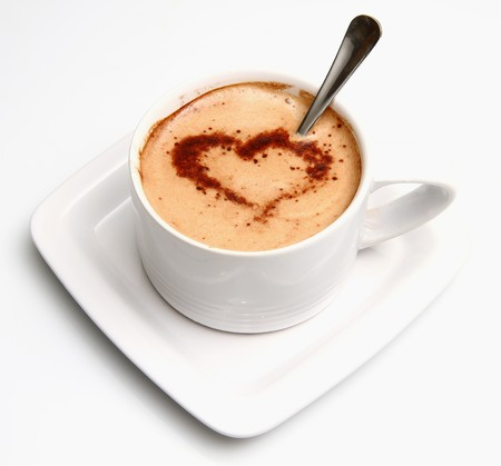 coldly: cappuccino with heart