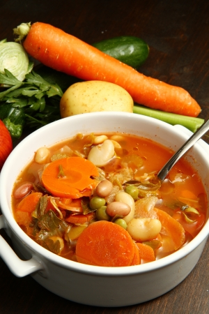 cabbages: minestrone Stock Photo