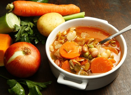 beans soup: minestrone Stock Photo