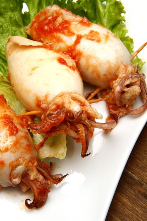 stuffed animals: stuffed calamari with tomatoes