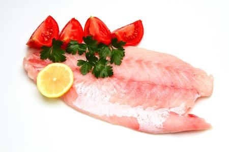 whitefish: fillet fish Stock Photo