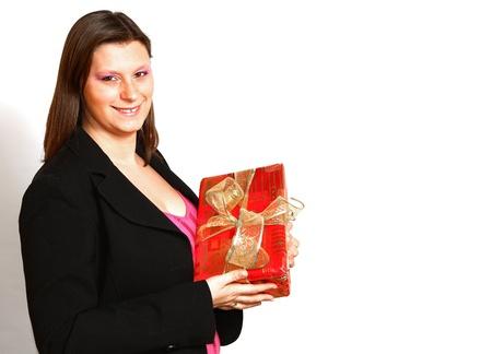 girl with gift photo