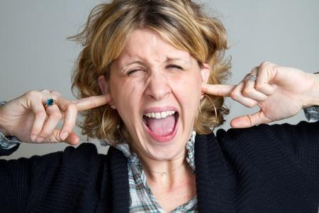 Portrait of gorgeous screaming female  Stock Photo - 8859735