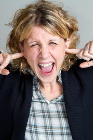 Portrait of gorgeous screaming female Stock Photo - 8859707