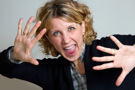Portrait of gorgeous screaming female  Stock Photo - 8859671