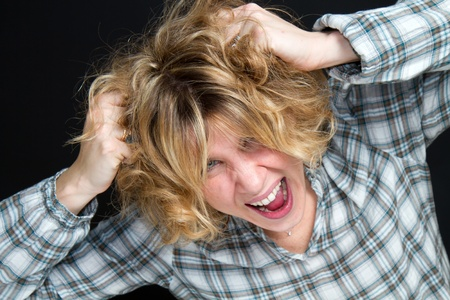 Portrait of gorgeous screaming female Stock Photo - 8859746