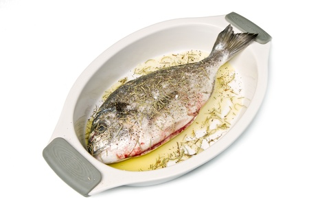 a gilthead bream ready to cook Stock Photo - 8979766