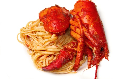 lobster spaghetti with tomato sauce Stock Photo - 8979759