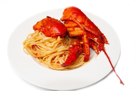 lobster spaghetti with tomato sauce Stock Photo - 8971557