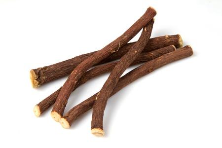 liquorice: liquorice stick isolated on white background