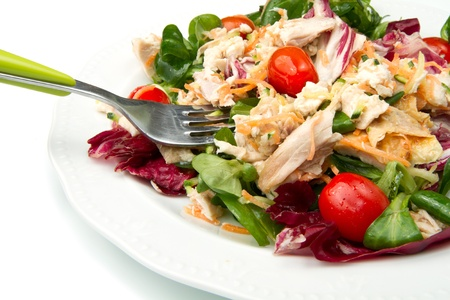 fresh salad with grilled chicken Stock Photo