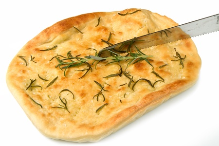 white pizza with fresh rosemary photo