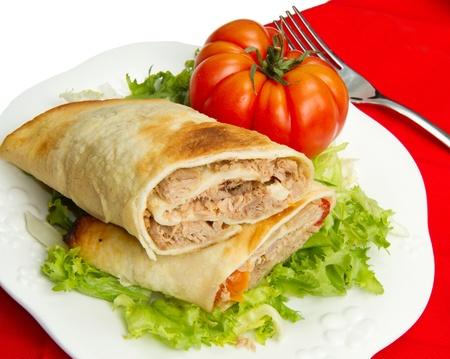 atun: s�ndwich de at�n en ensalada fresca y tomate