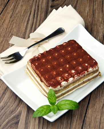 Tiramisu, classical dessert from Italian tradition Stock Photo - 9398581