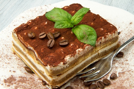 layer cake: Tiramisu, classical dessert from Italian tradition