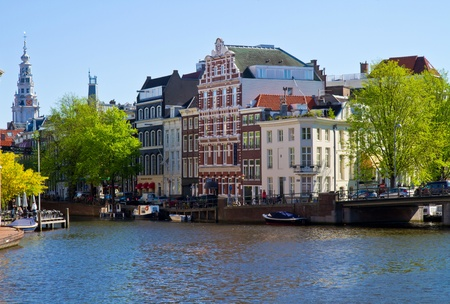 One of canals in Amsterdam Stock Photo - 9508770