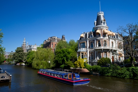 amsterdam canal: One of canals in Amsterdam