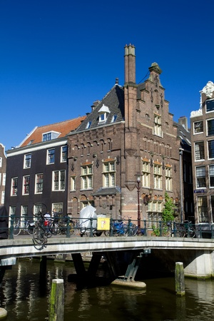 Amsterdam canals and typical houses  Stock Photo - 9529628