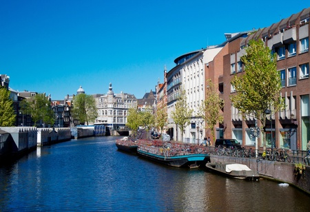 One of canals in Amsterdam Stock Photo - 9529626