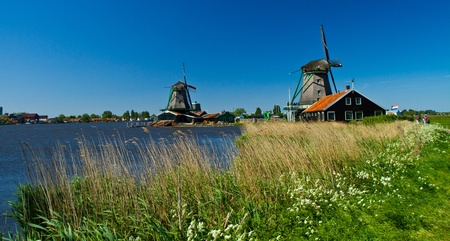 Photo of windmill in Holland with blue sky Stock Photo - 9546735
