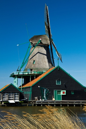 Photo of windmill in Holland with blue sky Stock Photo - 9546736