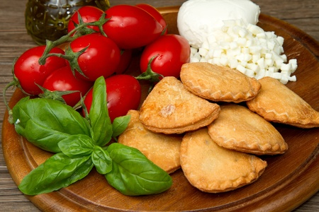 italian panzerotti with ingredients Stock Photo - 9656575