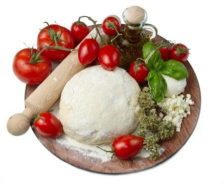 ingredients for homemade pizza Stock Photo - 9656559